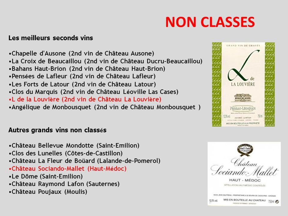 Les meilleurs seconds vins Chapelle d'Ausone (2nd vin de Château Ausone) La Croix de Beaucaillou (2nd vin de Château Ducru-Beaucaillou) Bahans Haut-Br