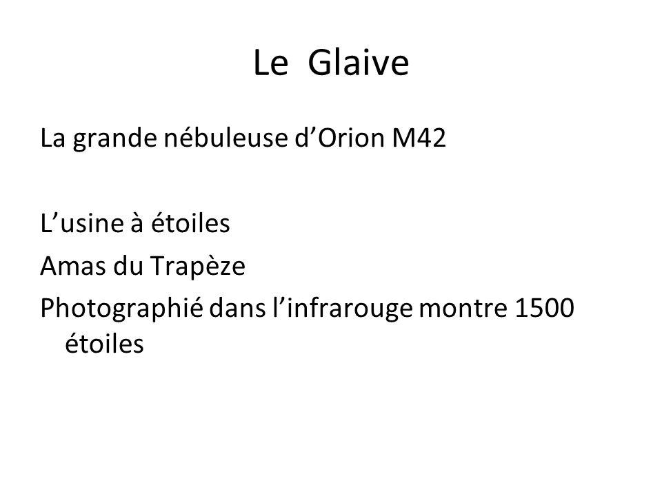 Le Glaive La grande nébuleuse dOrion M42 Lusine à étoiles Amas du Trapèze Photographié dans linfrarouge montre 1500 étoiles
