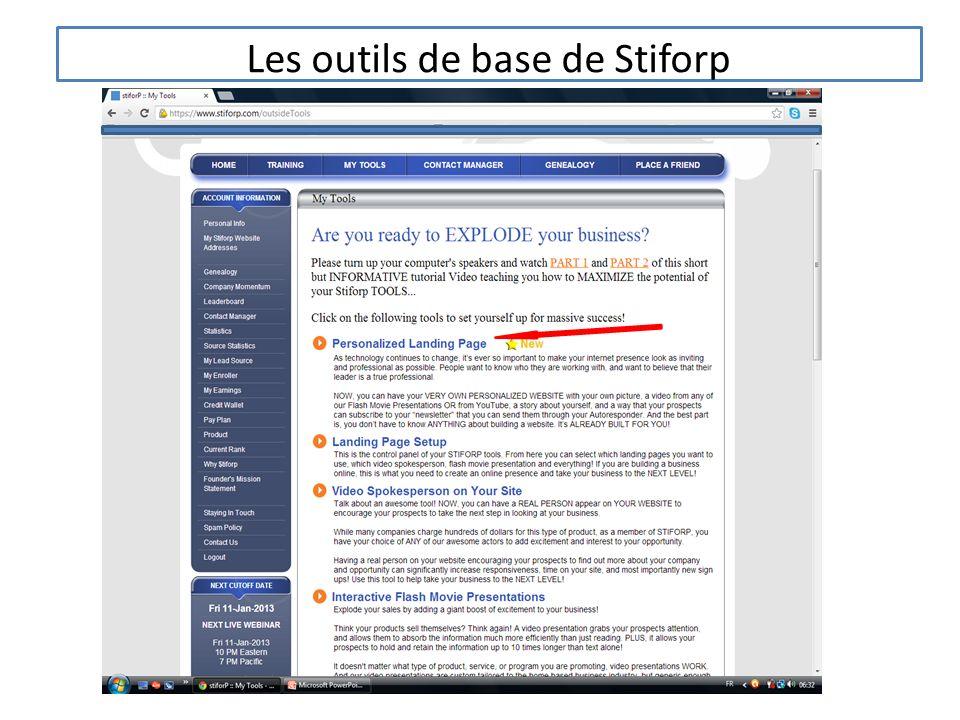 Les outils de base de Stiforp