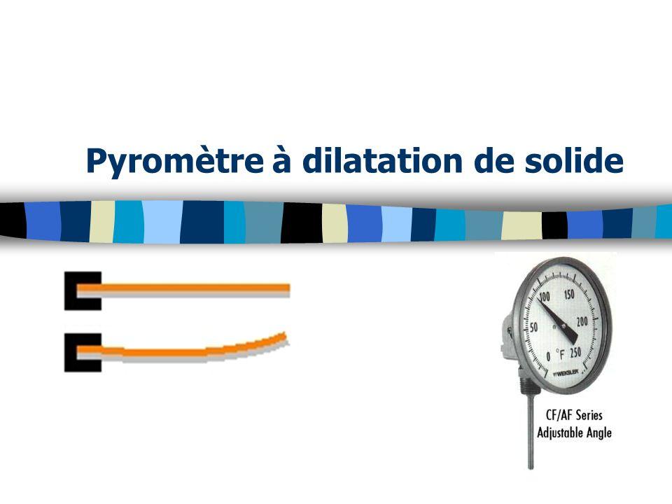 Pyromètre à dilatation de solide