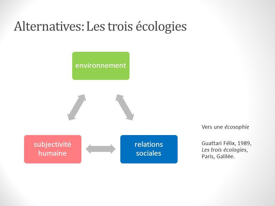 Les trois « durabilités » Développement durable Rapport Brundtland (CMED 1987)