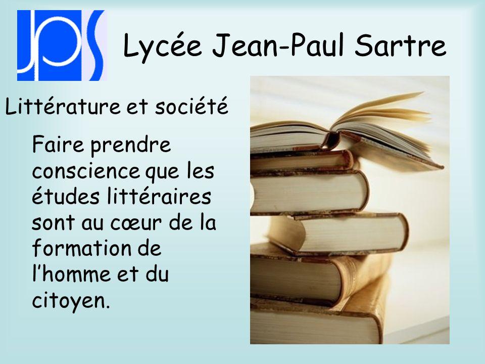 Lycée Jean-Paul Sartre Prendre conscience du lien entre santé et social Réaliser des expérimentations et des investigations Santé et social