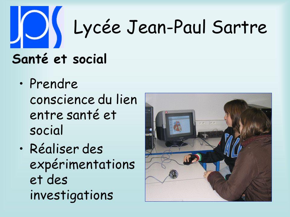 Lycée Jean-Paul Sartre Biotechnologies Pratiquer des activités technologiques en laboratoire.
