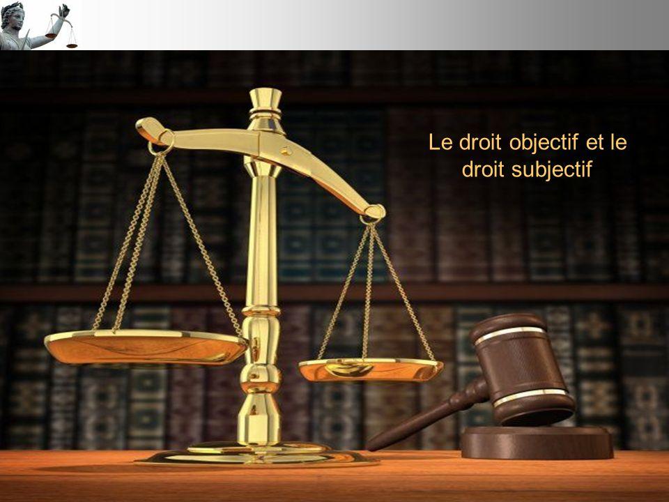 Le droit objectif et le droit subjectif