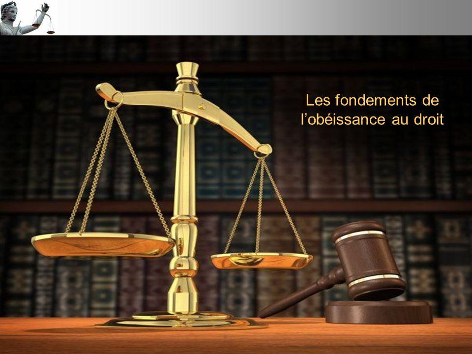 Les fondements de lobéissance au droit