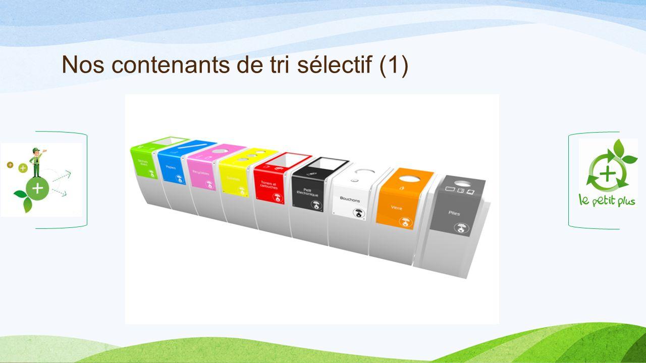 Nos contenants de tri sélectif (1)