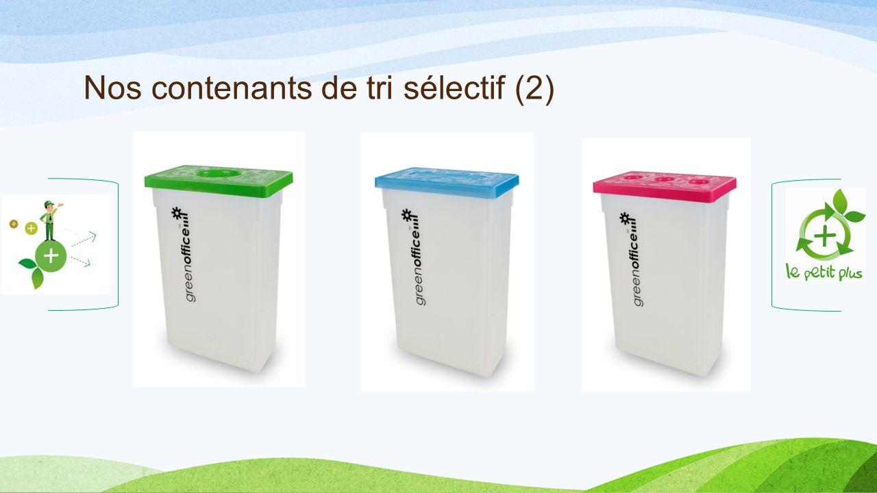 Nos contenants de tri sélectif (2)