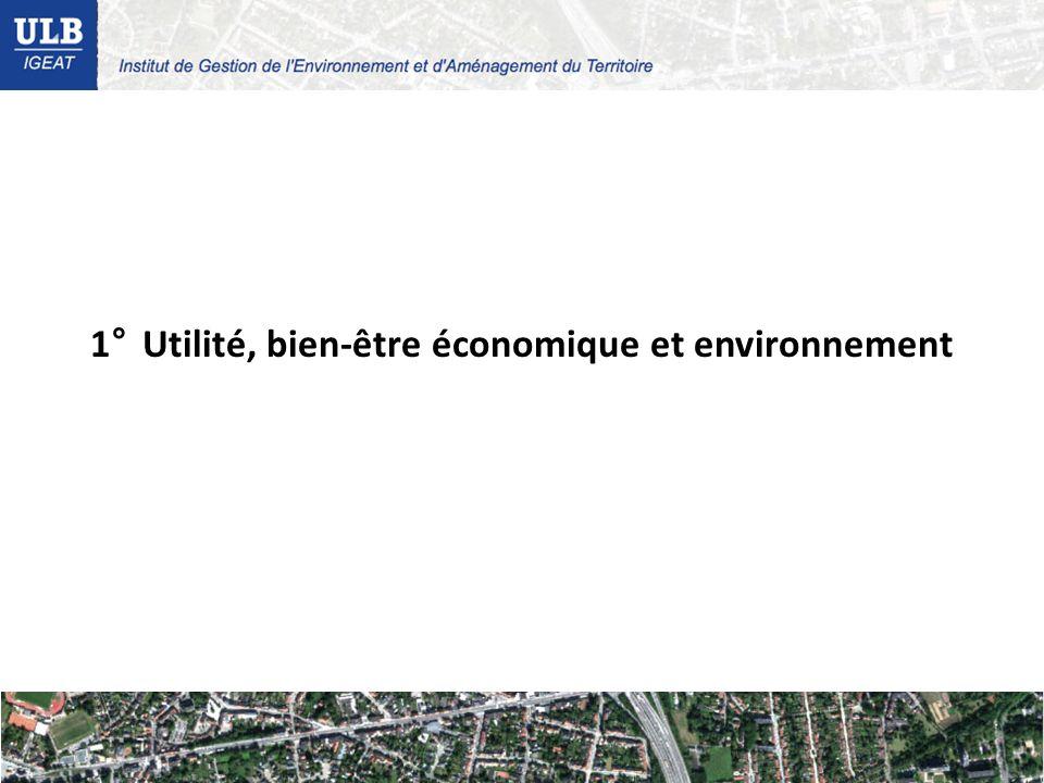1°Utilité, bien-être économique et environnement