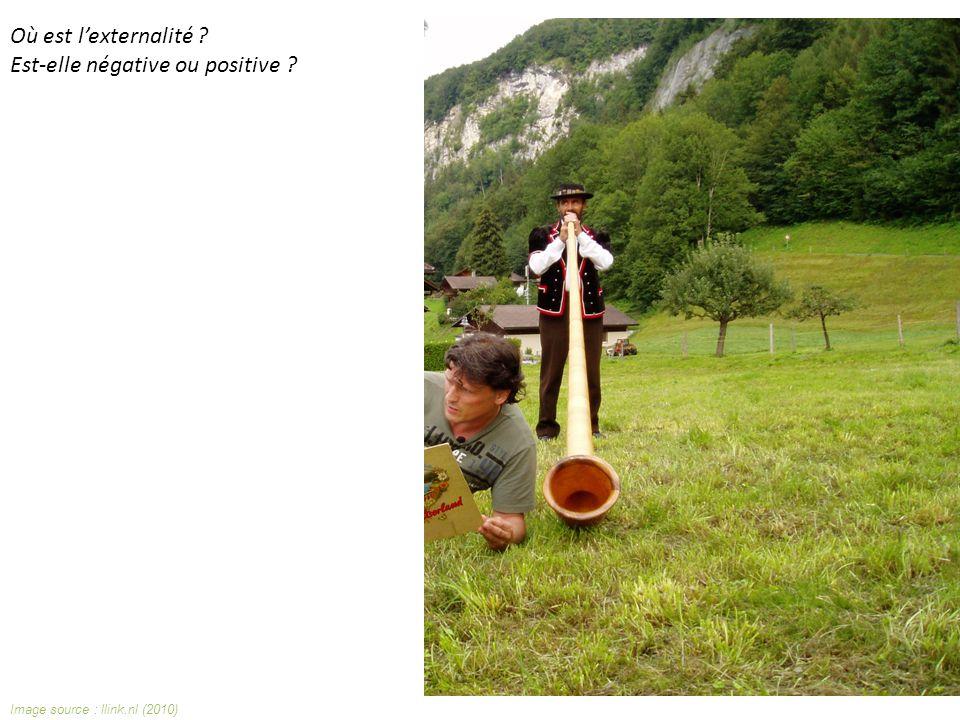 Image source : llink.nl (2010) Où est lexternalité Est-elle négative ou positive