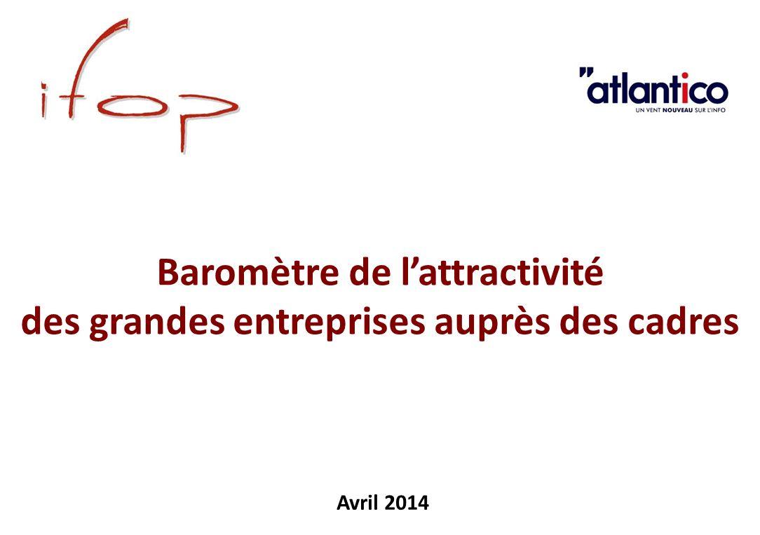 Baromètre de lattractivité des grandes entreprises auprès des cadres Avril 2014