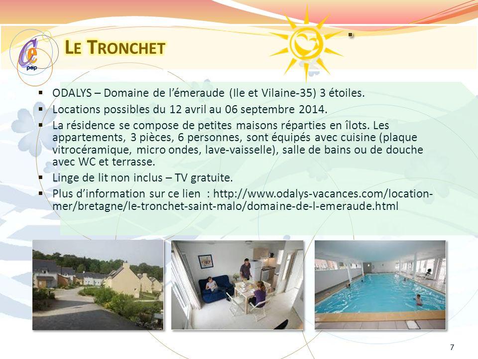 ODALYS – Domaine de lémeraude (Ile et Vilaine-35) 3 étoiles.