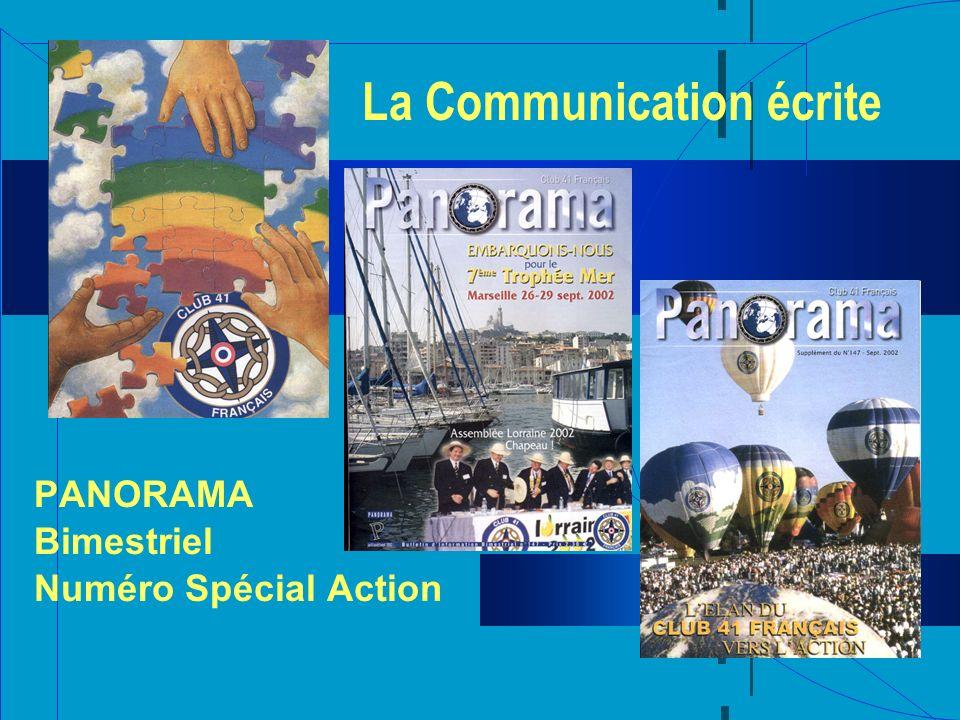 La Communication écrite PANORAMA Bimestriel Numéro Spécial Action