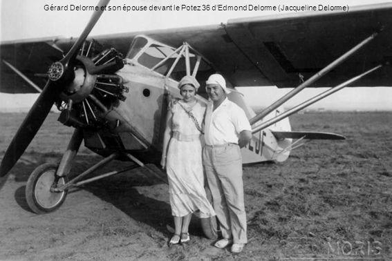 Gérard Delorme et son épouse devant le Potez 36 dEdmond Delorme (Jacqueline Delorme)