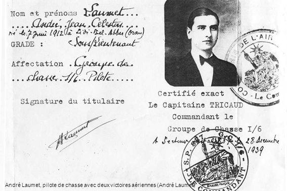 André Laumet, pilote de chasse avec deux victoires aériennes (André Laumet)