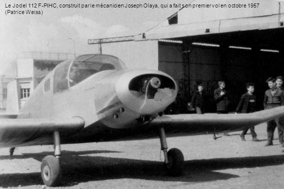 Le Jodel 112 F-PIHC, construit par le mécanicien Joseph Olaya, qui a fait son premier vol en octobre 1957 (Patrice Weiss)