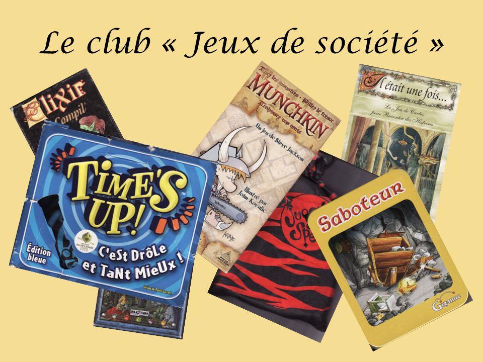 Le club « Jeux de société »