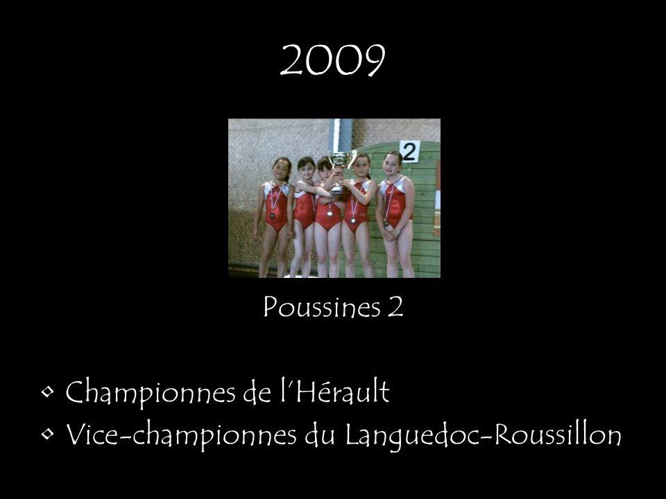 2009 Poussines 2 Championnes de lHérault Vice-championnes du Languedoc-Roussillon