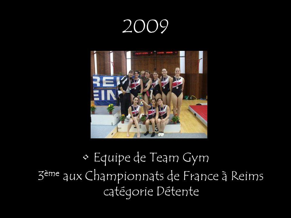 Equipe de Team Gym 3 ème aux Championnats de France à Reims catégorie Détente