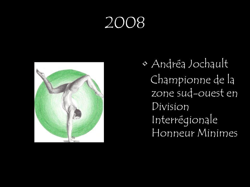Andréa Jochault Championne de la zone sud-ouest en Division Interrégionale Honneur Minimes