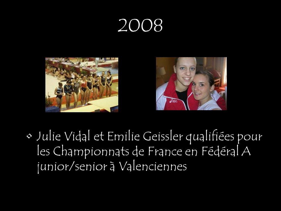 Julie Vidal et Emilie Geissler qualifiées pour les Championnats de France en Fédéral A junior/senior à Valenciennes