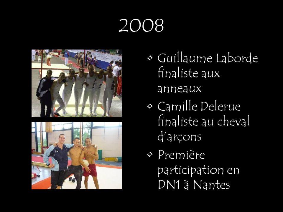 Guillaume Laborde finaliste aux anneaux Camille Delerue finaliste au cheval darçons Première participation en DN1 à Nantes