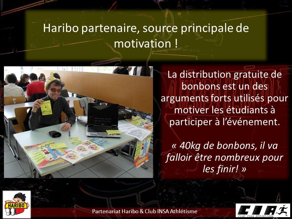 Partenariat Haribo & Club INSA Athlétisme Haribo partenaire, source principale de motivation .