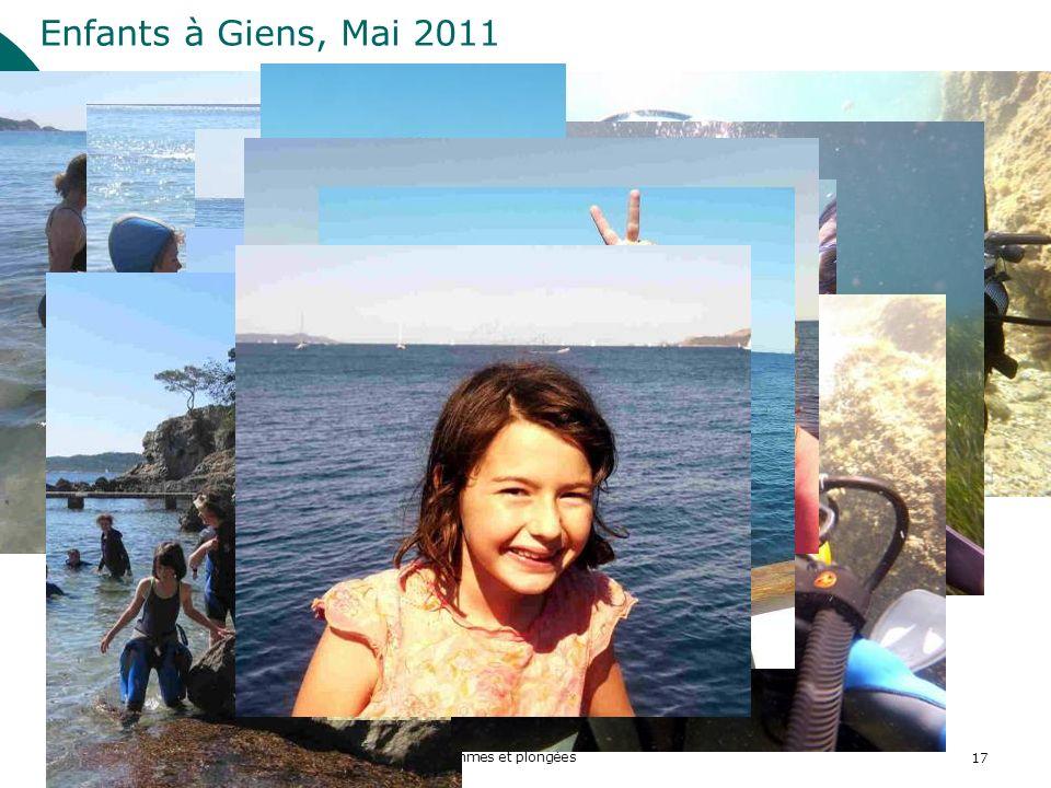2011 ASPTT Section Plongée Subaquatique Femmes et plongées17 Enfants à Giens, Mai 2011
