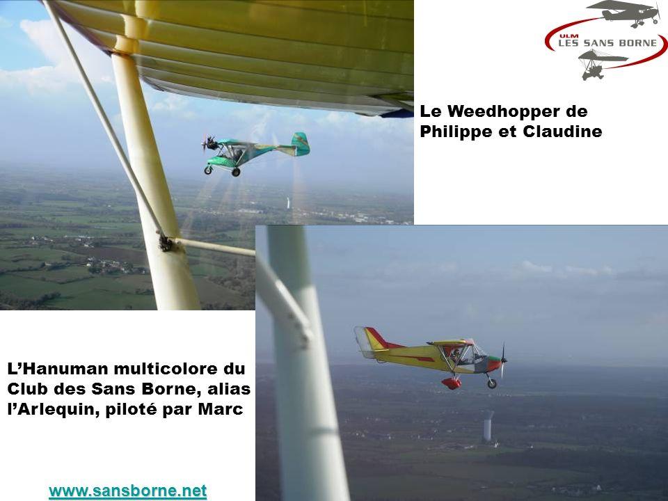 Le Weedhopper de Philippe et Claudine LHanuman multicolore du Club des Sans Borne, alias lArlequin, piloté par Marc www.sansborne.net