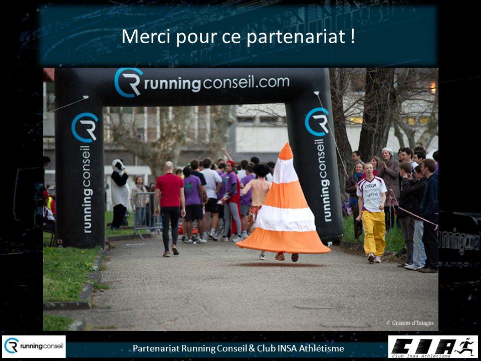 Partenariat Running Conseil & Club INSA Athlétisme Merci pour ce partenariat !