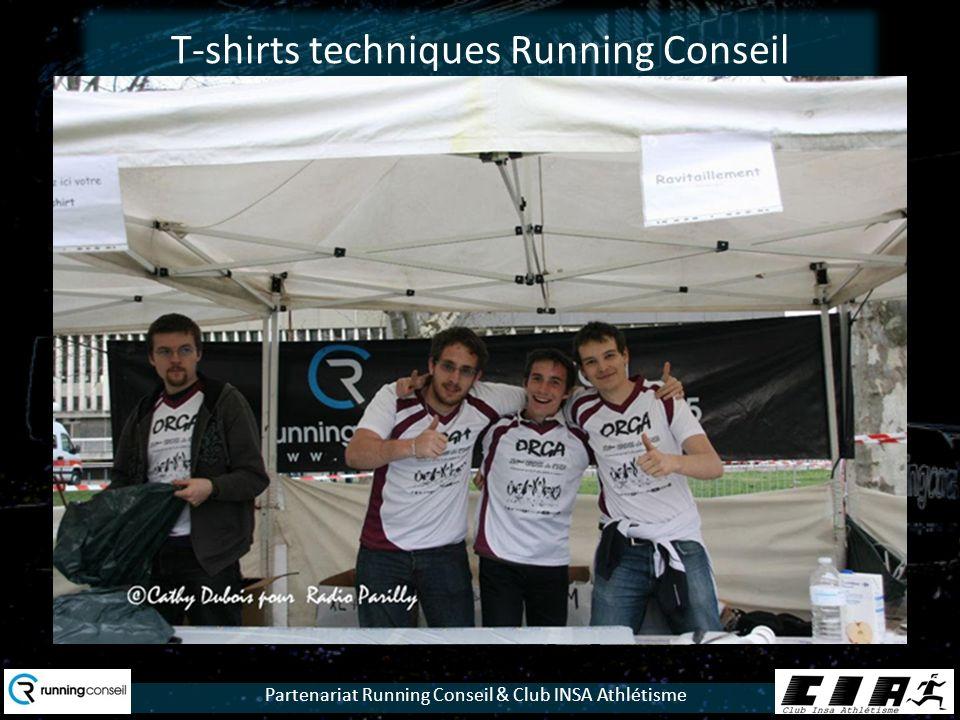Partenariat Running Conseil & Club INSA Athlétisme T-shirts techniques Running Conseil