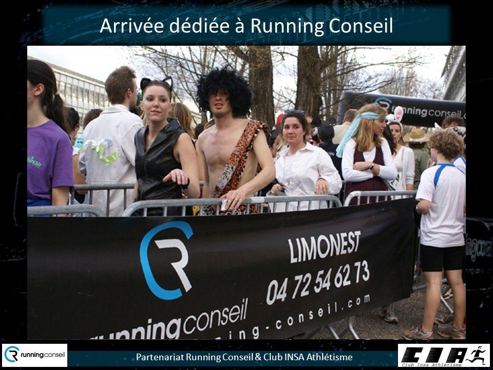 Partenariat Running Conseil & Club INSA Athlétisme Arrivée dédiée à Running Conseil