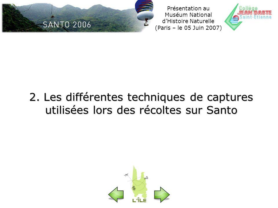 Présentation au Muséum National dHistoire Naturelle (Paris – le 05 Juin 2007) Lecture de larticle paru dans le magazine « Terre sauvage » de Mars 2007 pour commencer à réfléchir sur les techniques de captures…
