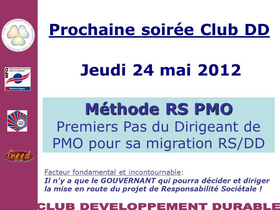 10/02/2011 DD et compétitivité : Se saisir du DD comme levier de compétitivité et dinnovation Prog.
