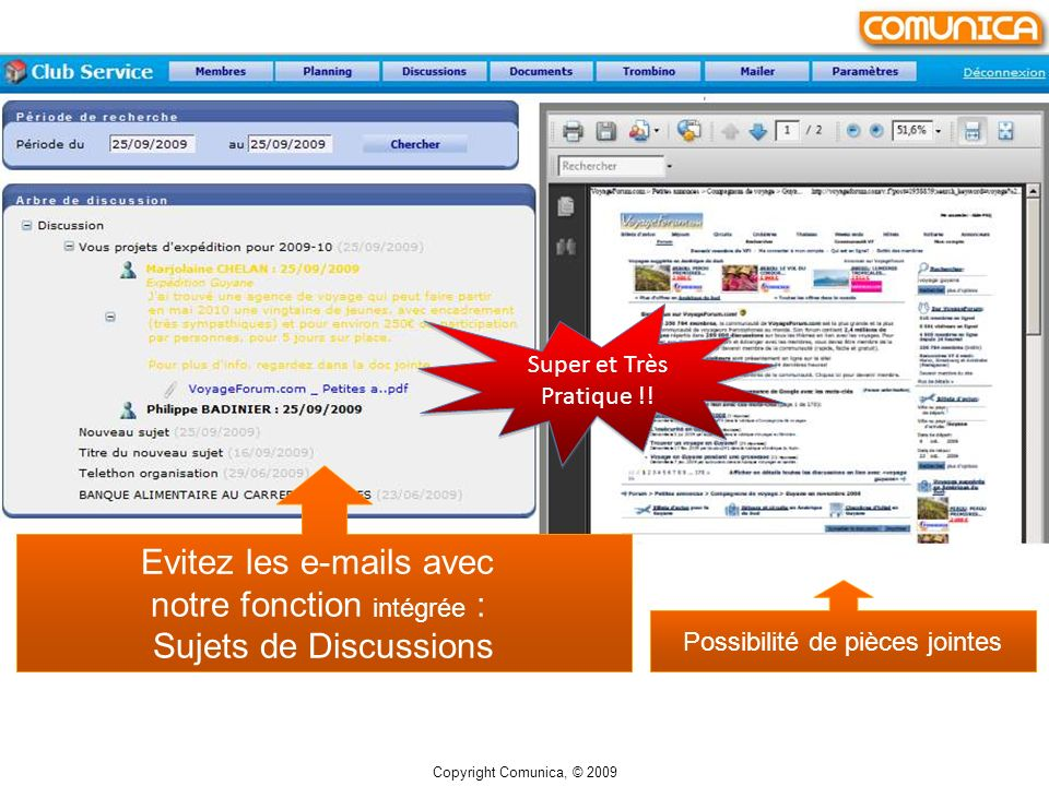 Archivage par liste de tous vos documents.