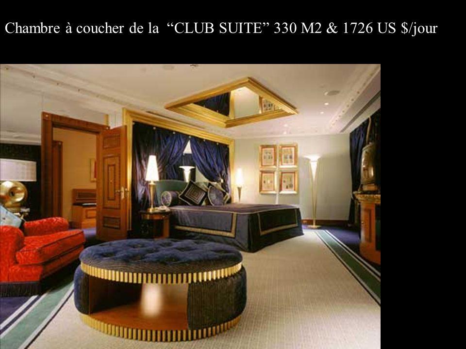 Chambre à coucher de la CLUB SUITE 330 M2 & 1726 US $/jour