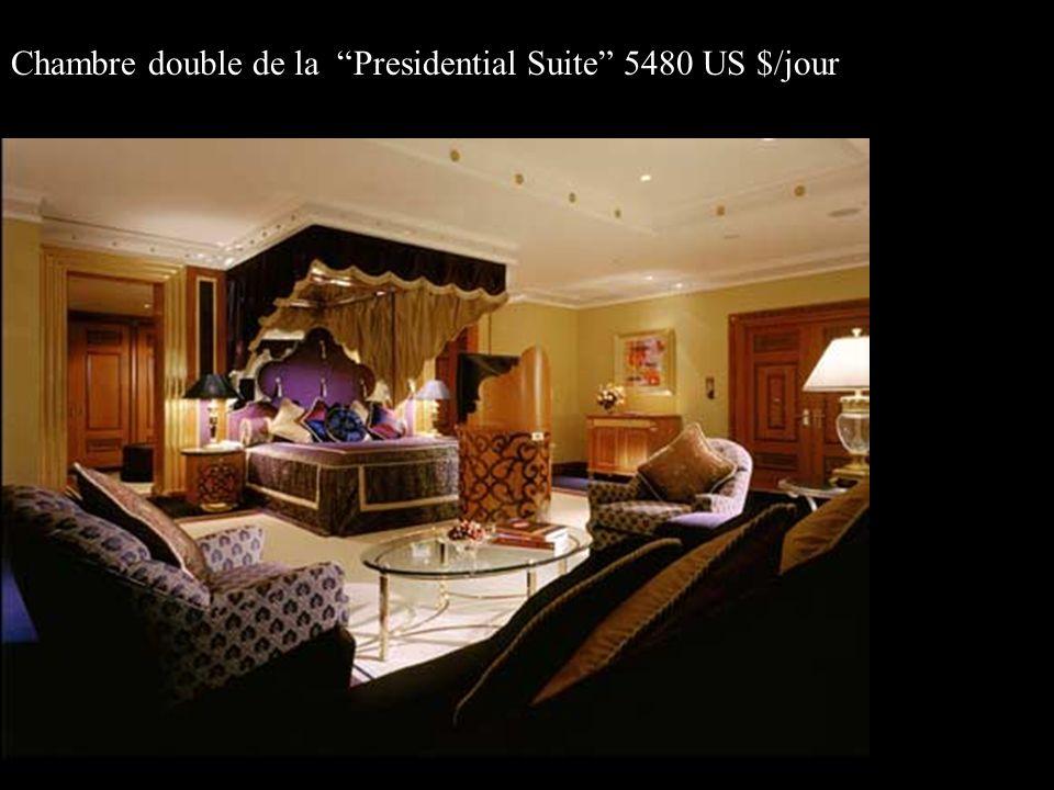 Chambre double de la Presidential Suite 5480 US $/jour