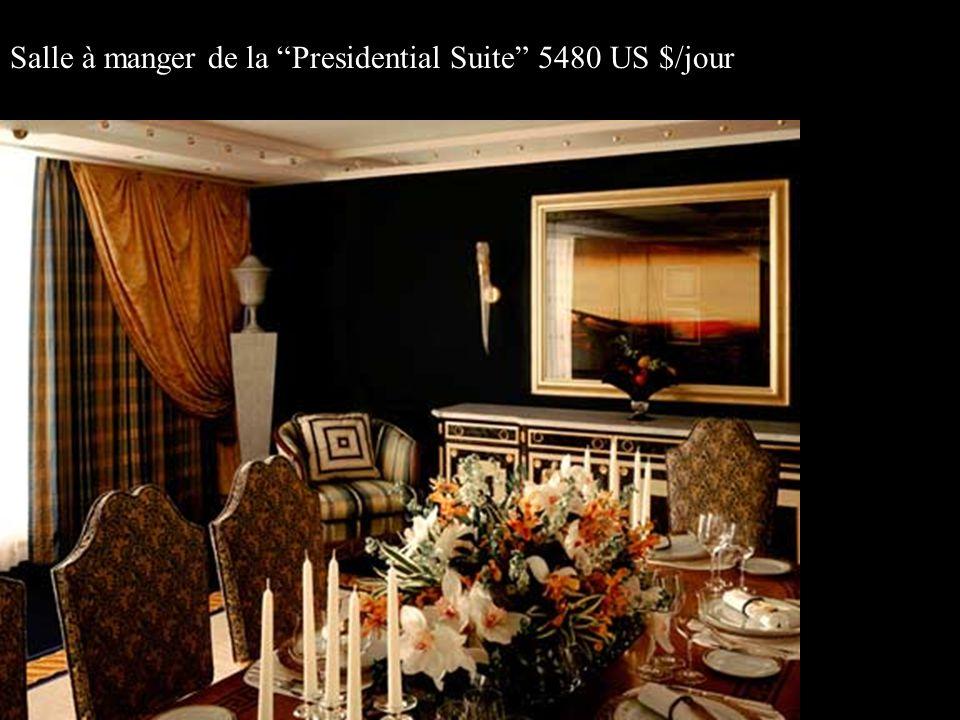 Salle à manger de la Presidential Suite 5480 US $/jour