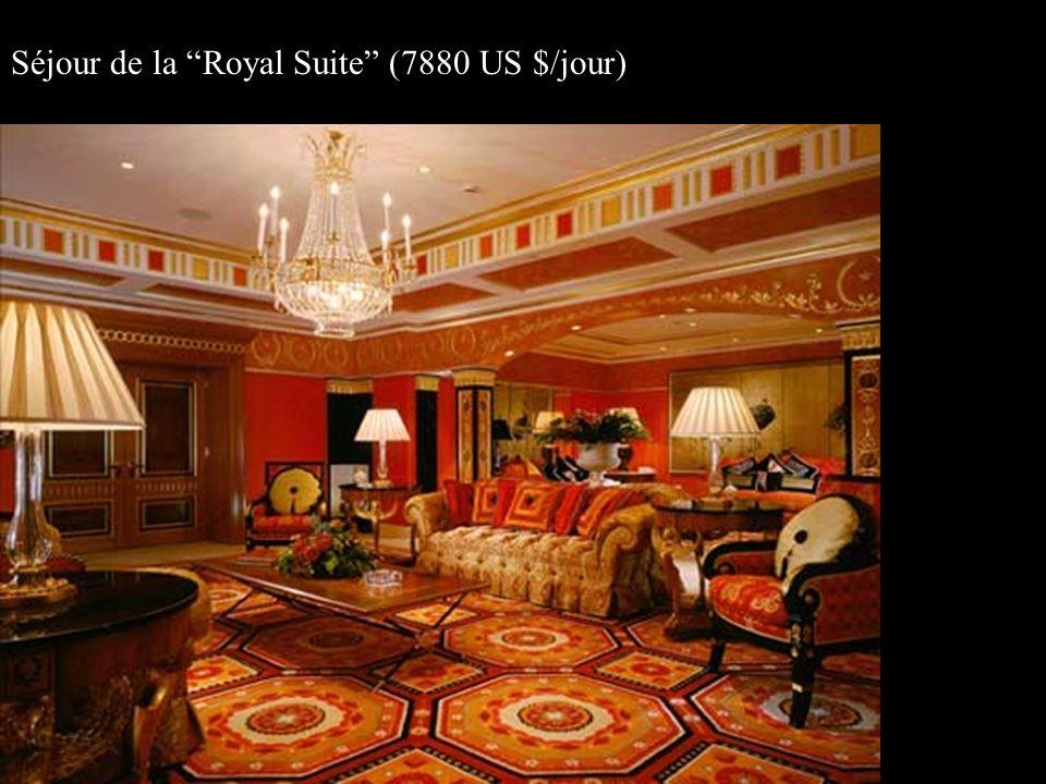 Séjour de la Royal Suite (7880 US $/jour)