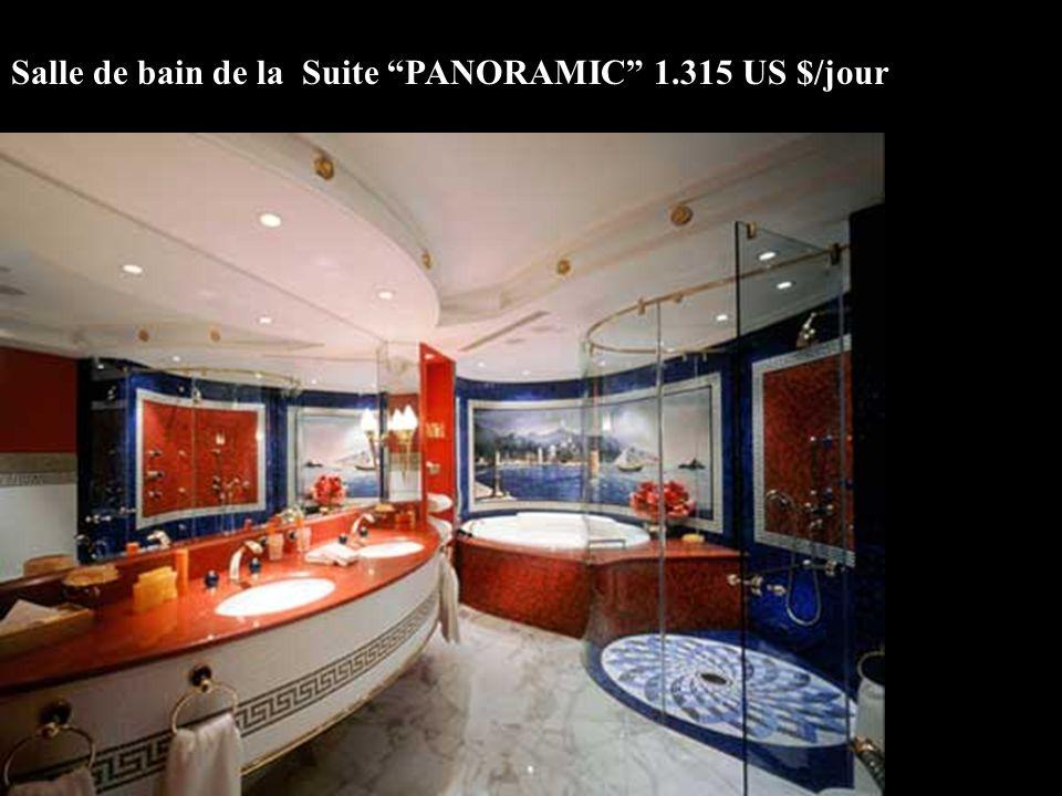 Salle de bain de la Suite PANORAMIC 1.315 US $/jour