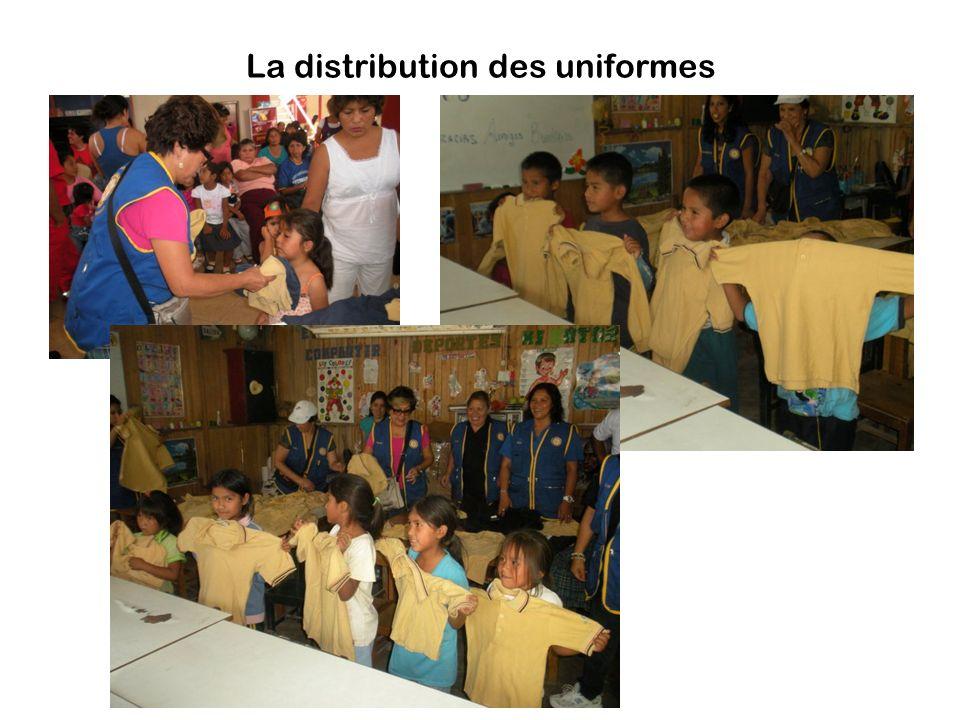 La distribution des uniformes