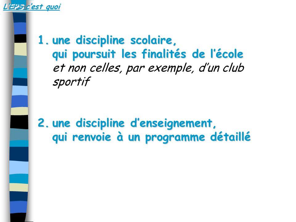 8 groupes dactivités : 1.Les activités athlétiques 2.Les activités de natation sportive 3.