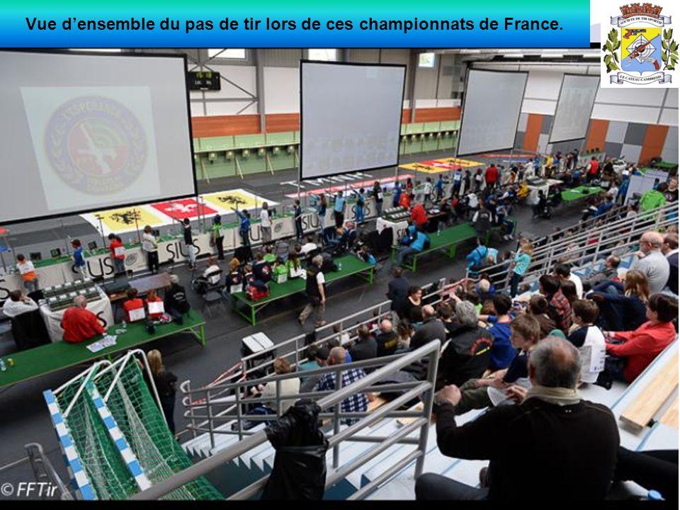 Vue densemble du pas de tir lors de ces championnats de France.