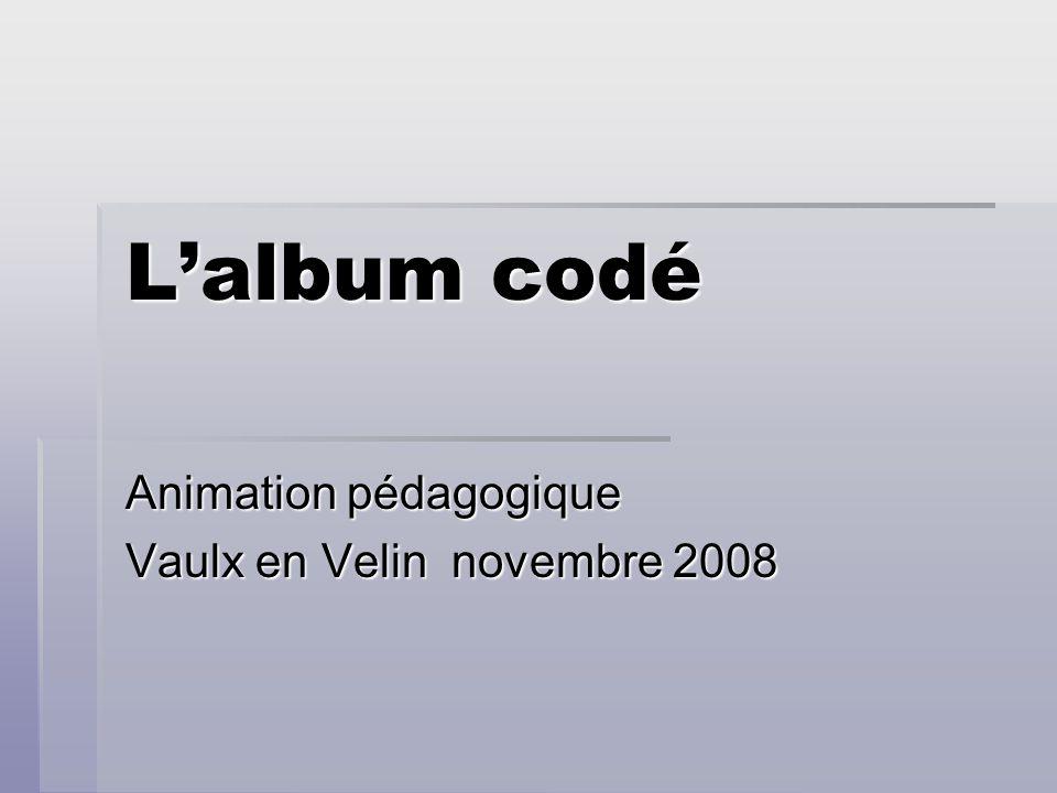 Lalbum codé Animation pédagogique Vaulx en Velin novembre 2008