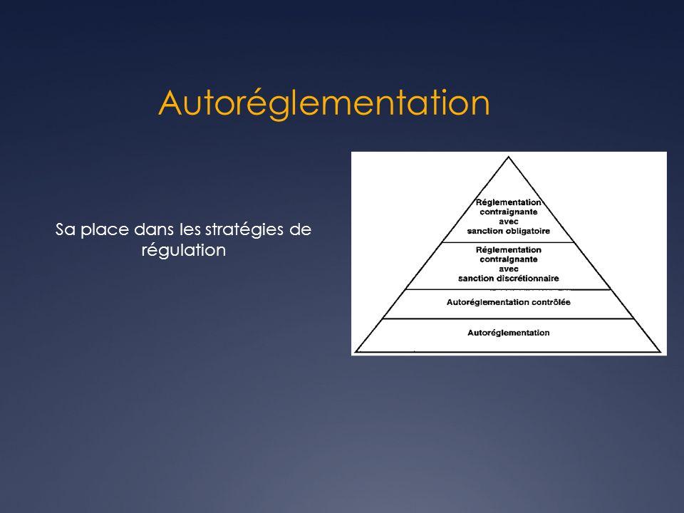 Autoréglementation Sa place dans les stratégies de régulation