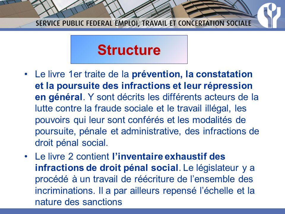 Structure Le livre 1er traite de la prévention, la constatation et la poursuite des infractions et leur répression en général.