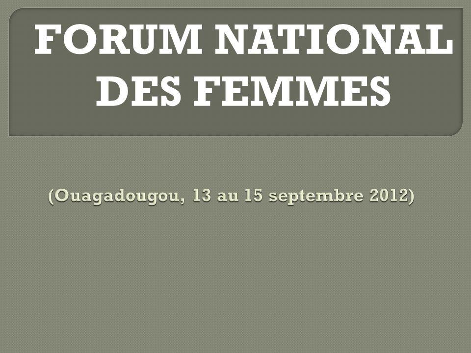FORUM NATIONAL DES FEMMES