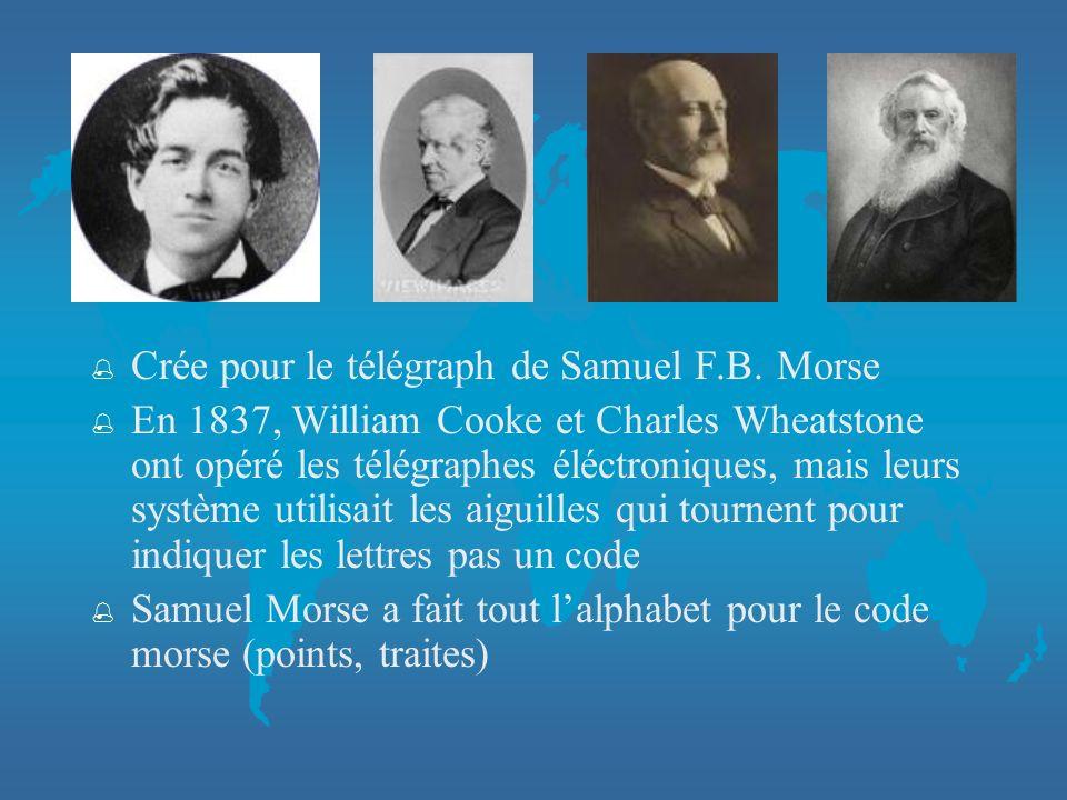 % Crée pour le télégraph de Samuel F.B.