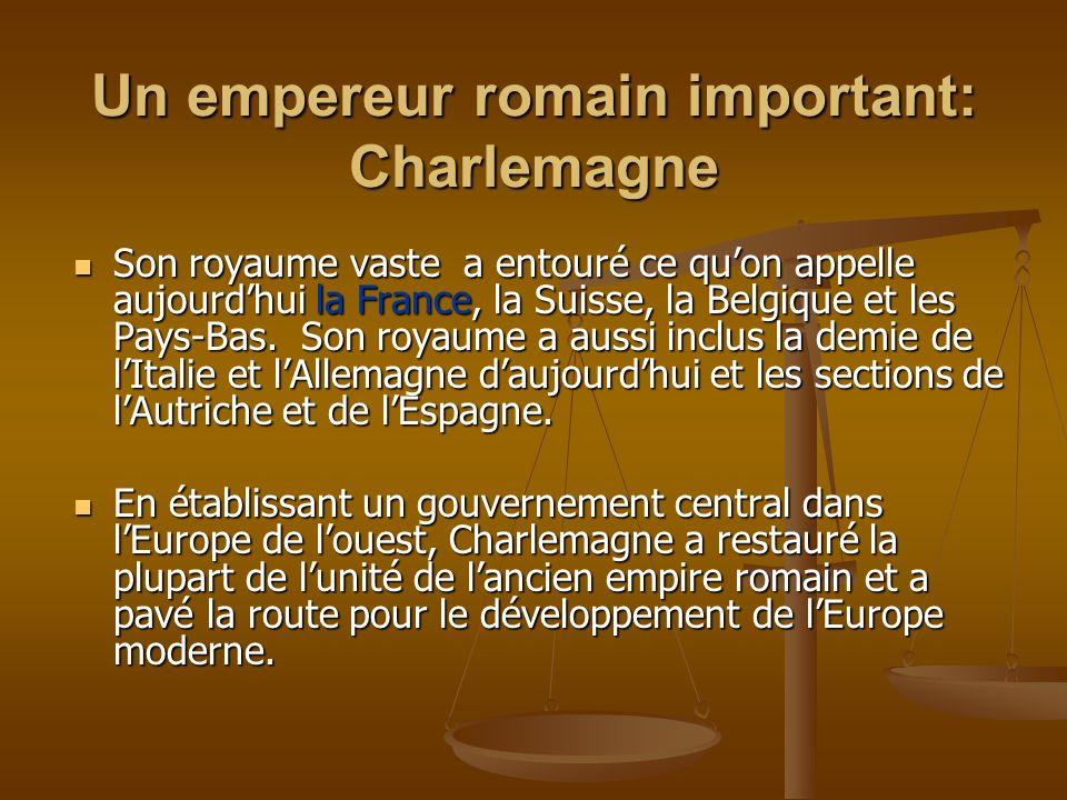 Son royaume vaste a entouré ce quon appelle aujourdhui la France, la Suisse, la Belgique et les Pays-Bas. Son royaume a aussi inclus la demie de lItal