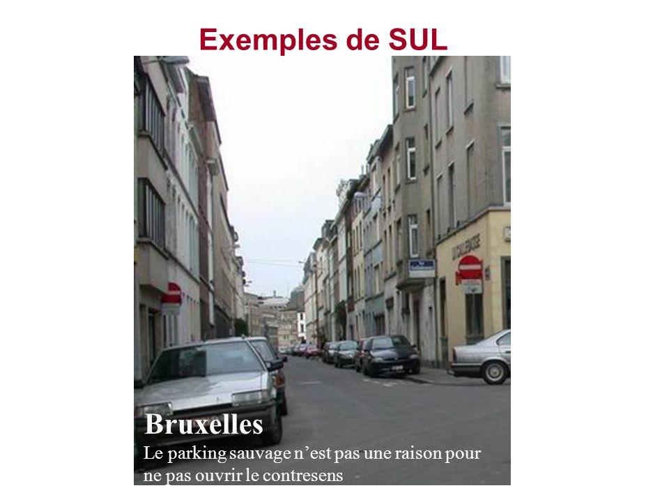 Exemples de SUL Bruxelles Le parking sauvage nest pas une raison pour ne pas ouvrir le contresens