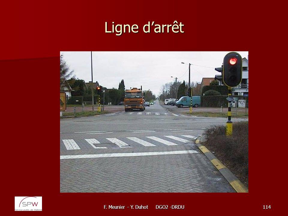 F. Meunier - Y. Duhot DGO2 -DRDU114 Ligne darrêt